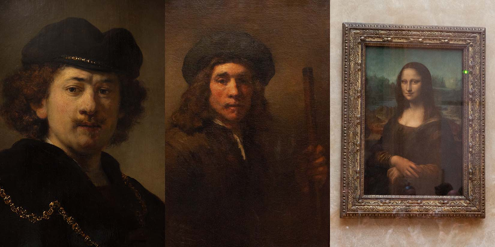 portrait painting displayed at louvre museum
