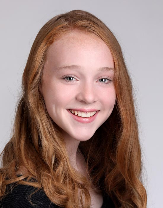 young female acting headshot