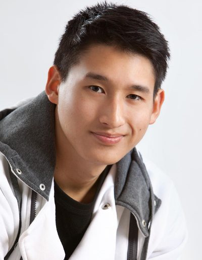 male casual clothes acting headshot